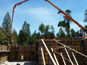 Building the Foundation at New Custom Home in Whitefish MT