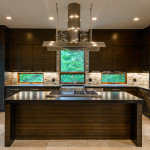 Kitchen with views from the countertop